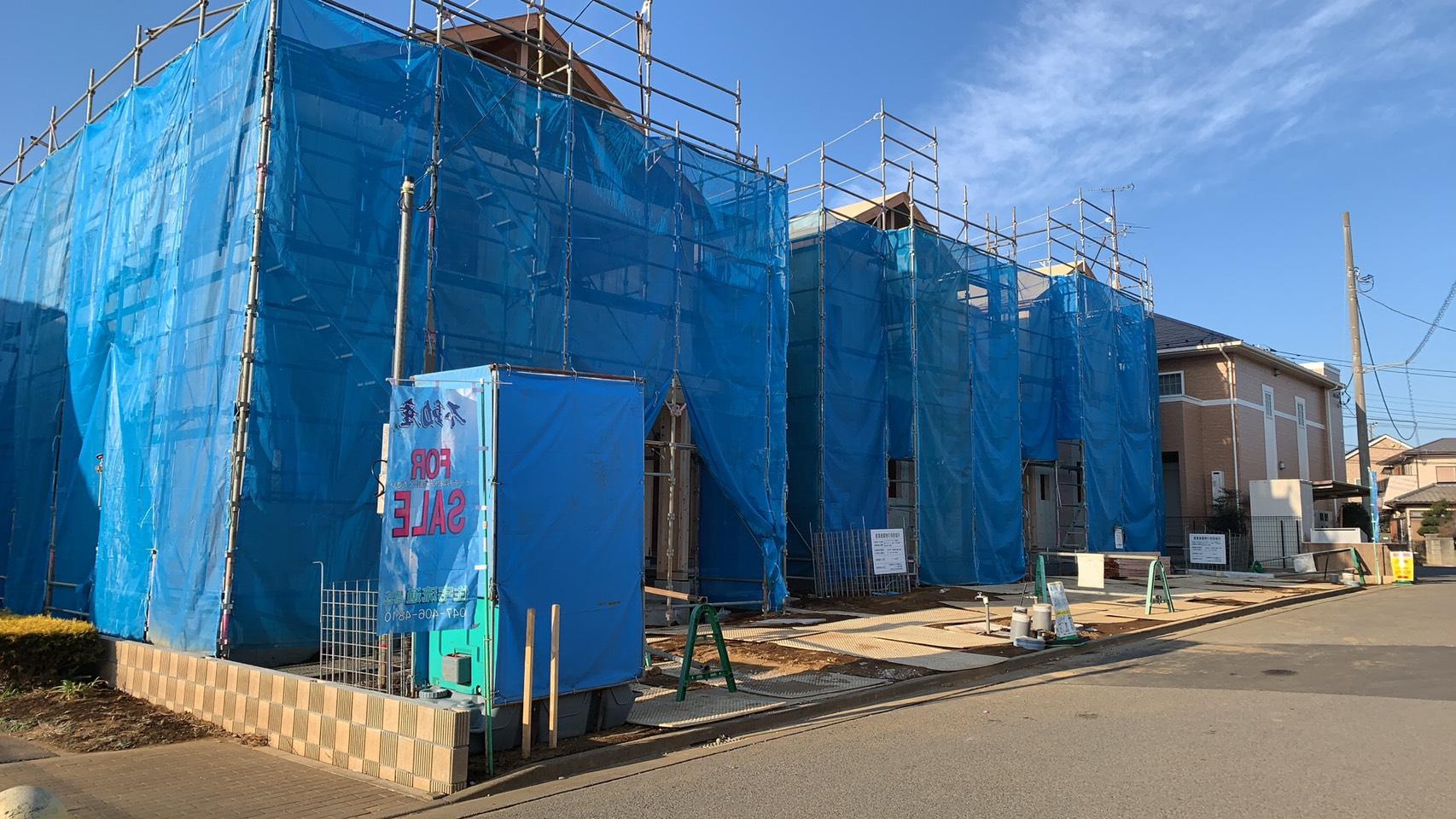 西白井4丁目新築一戸建て3棟現場